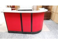 reception shop counter print shop/ care home /3 piece curved counter with storage. can deliver