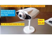 CCTV CAMERA VIEW FROM ANYWHERE IDEAL AS BABY MONITOR CONNECTS BY YOUR ROUTER LAST FEW THIS PRICE