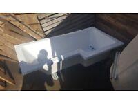 Right hand L shape bath 1700mm x 700mm