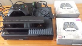 Xbox One 500GB + 3 controllers+3 Games+Kinect+Head set