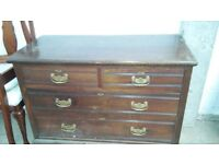Antique set bedroom drawers