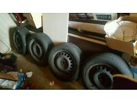 Wheels with tyres 195/60R15 cheap tyres from mk3 golf