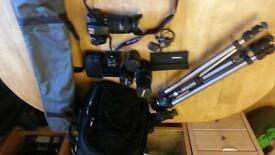 canon eos 1000d with lenses macro tubes filters remote switch tripod and accessories