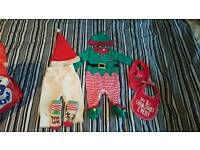 Baby boy 0-3 months Christmas clothes bundle