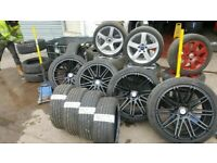MINT 22'' INCH Q7 RIVIERA ALLOYS WITH FREE PIRELLI SCORPION TYRES BALANCE AND FITTING OPEN 7 DAYS
