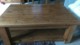 Plank wood coffee table Great condition