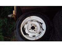 "13"" Michelin caravan wheel and tyre"