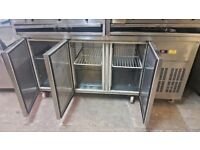 COMMERCIAL BENCH FRIDGE WORK TOP FRIDGE 180cm 3 DOOR FRIDGE CHEST FRIDGE FOSTER USED CATERING