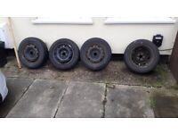 4 car tyres