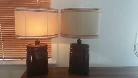 Pair of tall table lamps