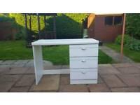 White Desk 3 drawers