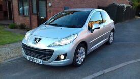 Silver 2010 (60) Peugeot 207 1.6 HDi Sportium 3 door, low mileage, 12 month MOT, £30 vehicle tax