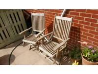 4 x Westminster Teak Wooden Garden Patio Dining Chairs