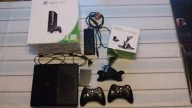 Xbox 360 console with controllers + charger