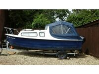 16ft Mayland with trailer ideal fishing /day/weekender. New canopy and outboard 2 years ago.