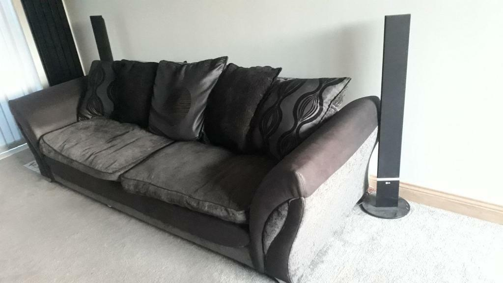 Large Sofa And Cuddle Chair With Docking Station And Built