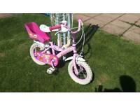 Cupcake girls bike for 3-5 yr olds