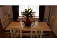 Marble dining table and 6 chairs-IMMACULATE CONDITION