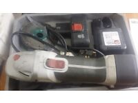 Cordless 18v Angle Grinder+charger+2Batteries+Key+Carry Case £80