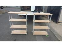 Beech and chrome shelves £35 delivered