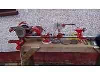 Vintage lathe, table saw, sander, grinder Coronet minor brand