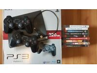 PS3, two controllers, 9 games - full working order