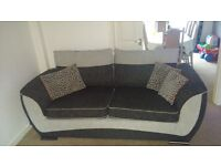 3 seater sofa chair and footstool