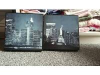 New york wooden canvases