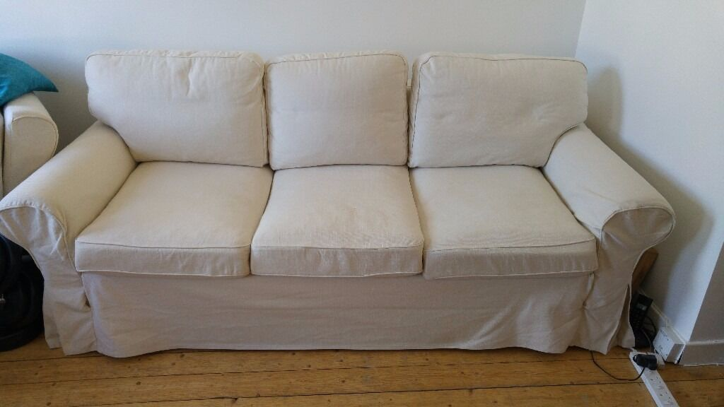 Ikea Ektorp Pixbo 3 Seater Sofabed W Mattress
