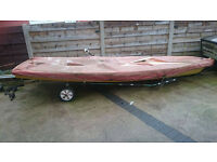 Laser One Saling Dinghy & Trailer & Lauching Trailer