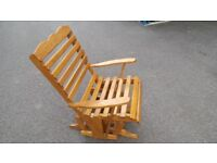 Solid Oak Rocking Chair/Armchair,Excellent Condition,Possible Delivery