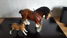 vintage shire horse ornament