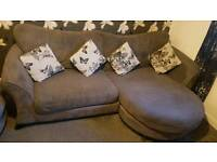 DFS gloss 4 seater sofa and cuddle