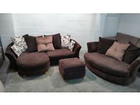 DFS L-shaped Sofa & Cuddle Chair | Free delivery