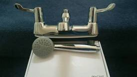H&C Commercial lever bath shower mixer