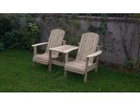 Jack and Jill seat Love Seat Twin seat Garden chair Summer seat furniture set Loughview JoineryLTD