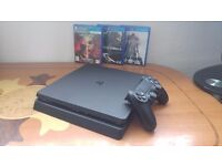 PS4 SLIM 1TB MINT CONDITION BOXED + 3 GREAT GAMES + CONTROLLER. CHEAP DEAL