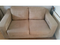 **Latte colour Suede 2 seater Sofa-bed for sale. Previously bought from Dwell Designer shop**