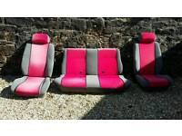 Escort mk3 cabriolet front & back seats interior & door cards