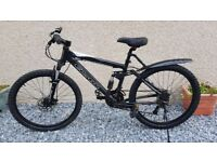"""Carrera Detonate to suit 5'1"""" to 5'5"""" with seat at lowest.Free Delivery disc Brakes full suspension"""