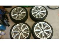 "Fiesta zetec s 17"" alloy wheels and tyres"