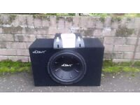 Subwoofer - Mutant MTPK12-A - 2 channel Amp with front & rear speakers & Kenwood KDC-4547U Headunit