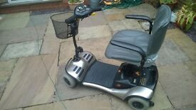 mobility scooter shoprider cameo 0-4 mph fits in car boot new batteries fitted