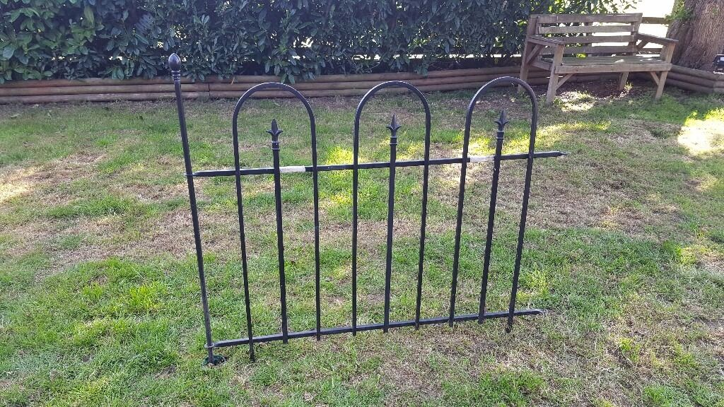 Panacea easy install wrought iron garden fencing fence for Easy fence installation