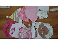 Newborn bibs,scratch mitts and hats