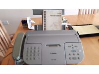 Canon EB15 Fax Machine with speed dialing and integrated phone, instruction book included