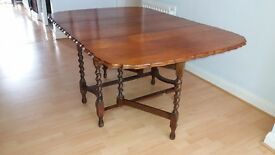 oak drop leaf table seats 6 + free local delivery 5 miles of lancaster