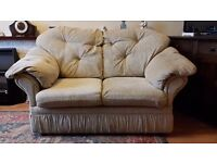 3 & 2 Seater Sofa with matching footstool