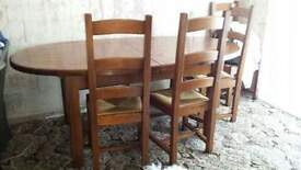 ponsford solid oak dining table 4 chairs