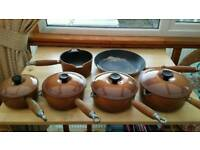 Le-crueset french pans.heavy cast metal..used condition..